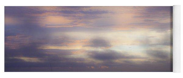 Dreamy Blue Atlantic Sunrise Yoga Mat