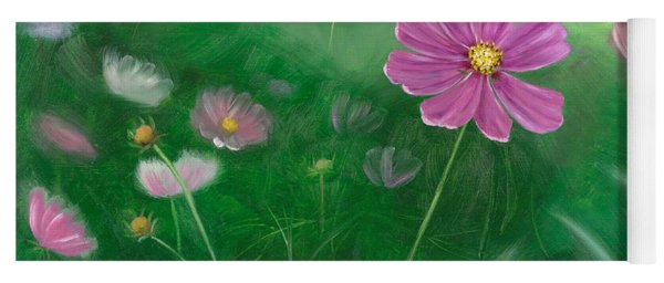 Cosmos Flowers Yoga Mat