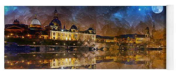 Dresden At Night Yoga Mat
