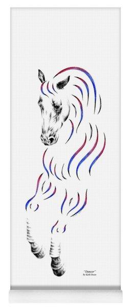 Dressage Horse Dancer Print Yoga Mat