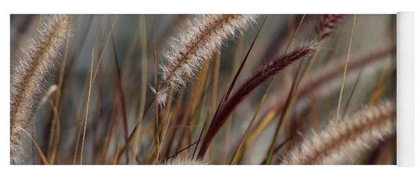 Dried Desert Grass Plumes In Honey Brown Yoga Mat