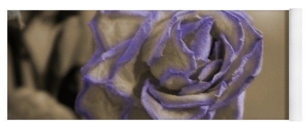 Dried Rose In Sienna And Ultra Violet Yoga Mat