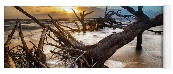 Driftwood Beach 7 Yoga Mat