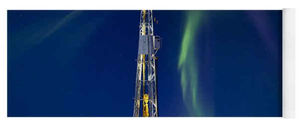 Drilling Rig Saskatchewan Yoga Mat