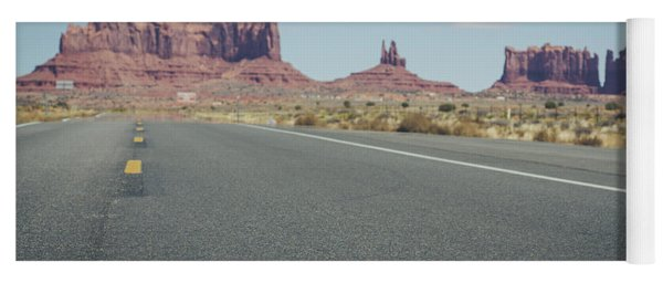 Driving Monument Valley Yoga Mat