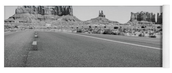 Driving Monument Valley Monochrome Yoga Mat