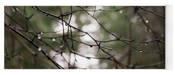 Droplets On Branches Yoga Mat