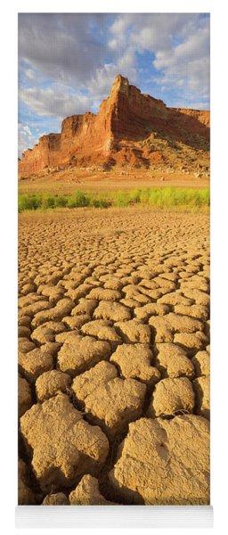 Yoga Mat featuring the photograph Drought Glen Canyon Utah by Yva Momatiuk John Eastcott