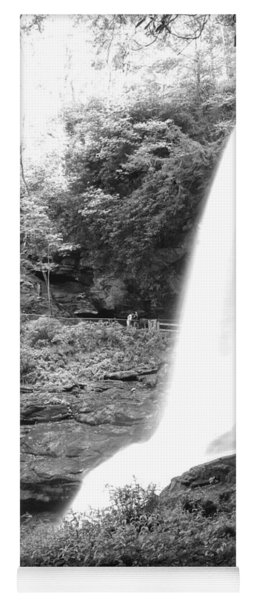 Yoga Mat featuring the photograph Dry Falls In Black And White by Joseph C Hinson Photography