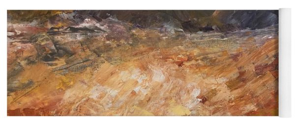 Yoga Mat featuring the painting Dry River by Norma Duch