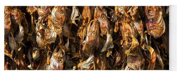 Drying Fish Heads - Iceland Yoga Mat
