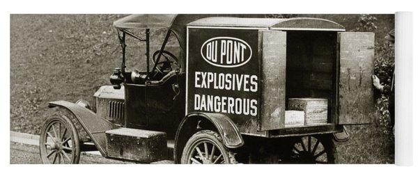 Du Pont Co. Explosives Truck Pennsylvania Coal Fields 1916 Yoga Mat
