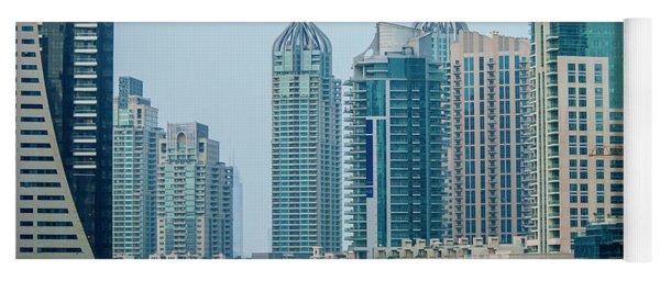 Dubai Marina Cityscape Yoga Mat