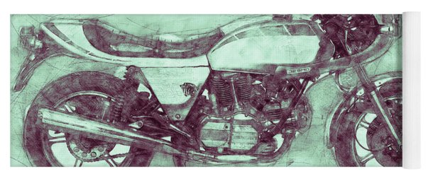 Ducati Supersport 3 - Sports Bike - 1975 - Motorcycle Poster - Automotive Art Yoga Mat