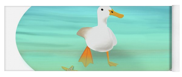Duck Paddling At The Seaside Yoga Mat