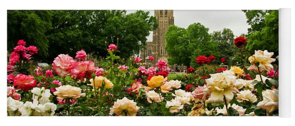 Duke Chapel And Roses Yoga Mat