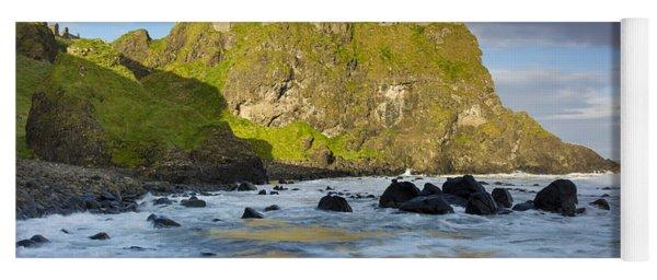 Dunluce Castle Waves Yoga Mat