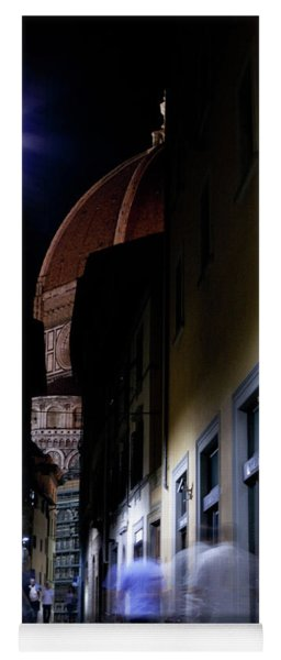 Yoga Mat featuring the photograph Duomo In The Dark by Matthew Wolf