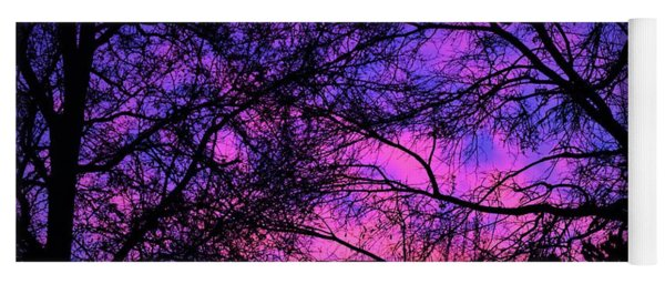 Dusk And Nature Intertwine Yoga Mat