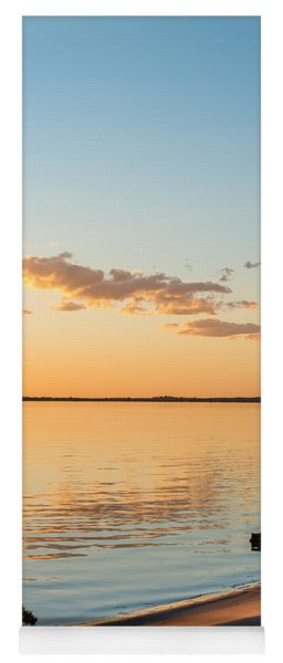Yoga Mat featuring the photograph Dusk At Lake Bonney by Ray Warren