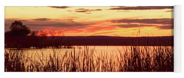 dusk on Lake Superior Yoga Mat