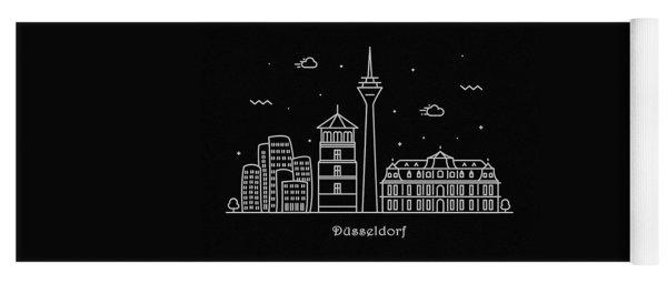 Dusseldorf Skyline Travel Poster Yoga Mat