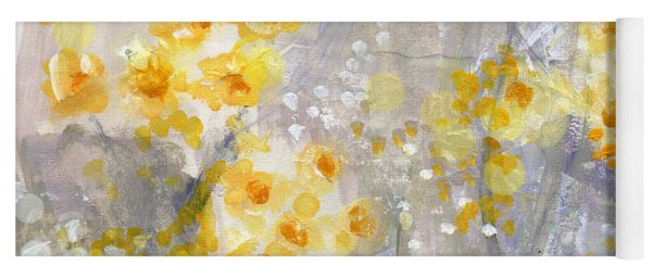Dusty Miller- Abstract Floral Painting Yoga Mat
