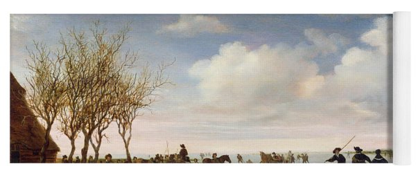 Dutch Landscape With Skaters Yoga Mat