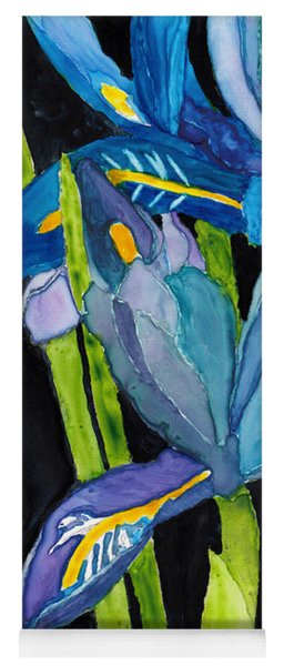 Dwarf Iris Watercolor On Yupo Yoga Mat