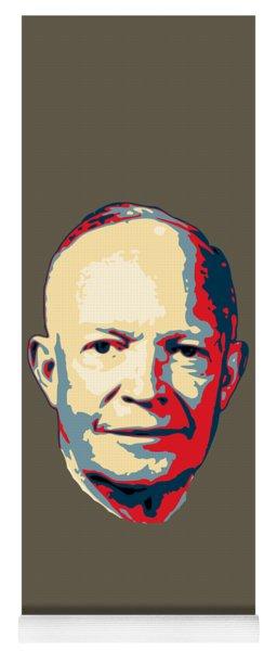 Dwight D. Eisenhower Pop Art Yoga Mat