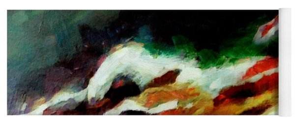 Dying Swan-abstract Yoga Mat