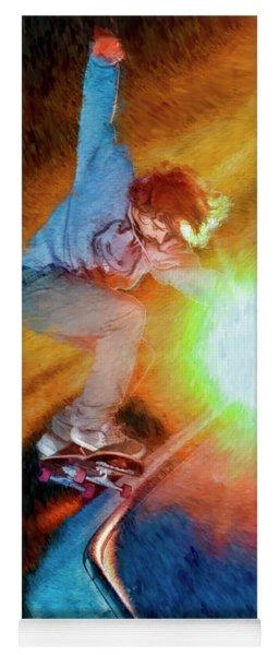 Dylan Andre On His Flying Skateboard Yoga Mat