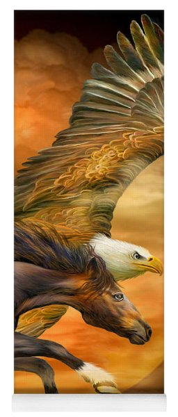 Eagle And Horse - Spirits Of The Wind Yoga Mat