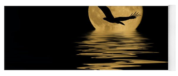 Eagle In The Moonlight Yoga Mat