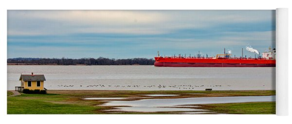 Yoga Mat featuring the photograph Eagle Klang - Oil Freighter by Kristia Adams
