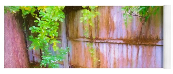 Early Autumn Fence And Vines Yoga Mat