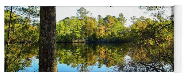Yoga Mat featuring the photograph Early Fall Reflections by Nicole Lloyd
