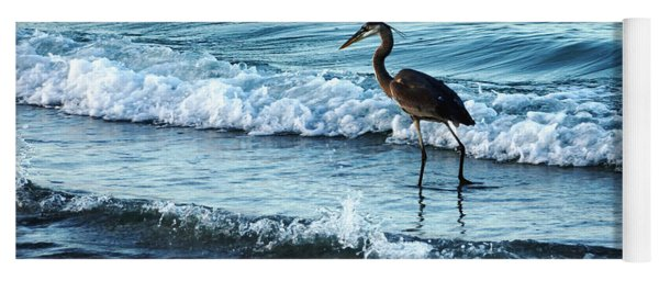 Early Morning Heron Beach Walk Yoga Mat