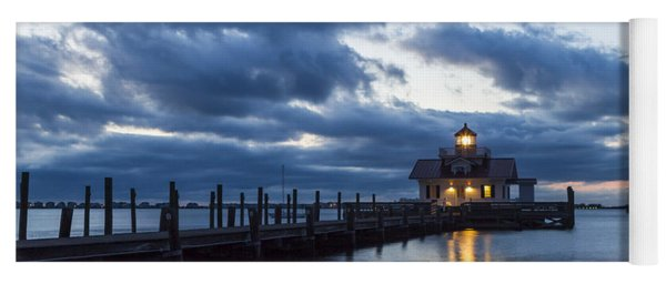 Early Morning Over Roanoke Marshes Lighthouse Yoga Mat