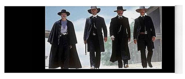 Earp Brothers And Doc Holliday Approaching O.k. Corral Tombstone Movie Mescal Az 1993-2015 Yoga Mat