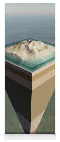 Earth Core Structure Cut-away Yoga Mat