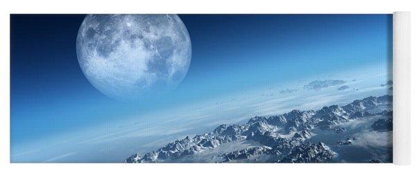Earth Icy Ocean Aerial View Yoga Mat