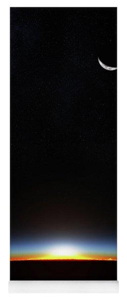 Earth Sunrise Through Atmoshere Yoga Mat