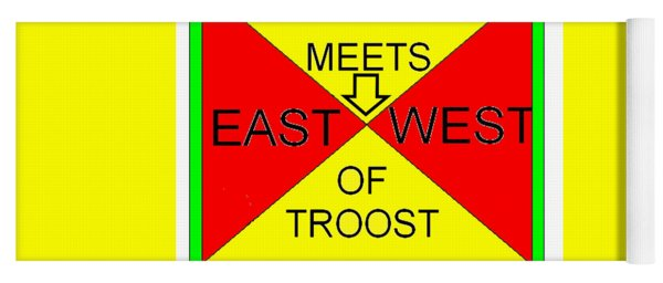 East Meets West Of Troost Yoga Mat
