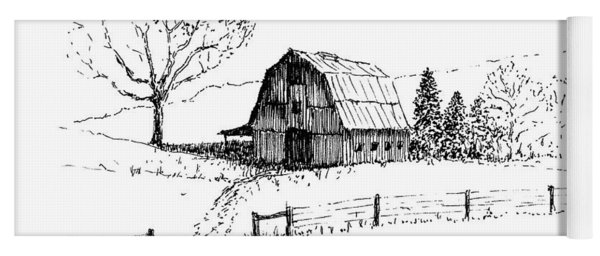 East Texas Hay Barn Yoga Mat