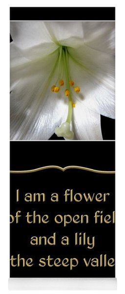 Easter Lily With Song Of Songs Quote Yoga Mat