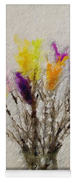 Easter Tree- Abstract Art By Linda Woods Yoga Mat