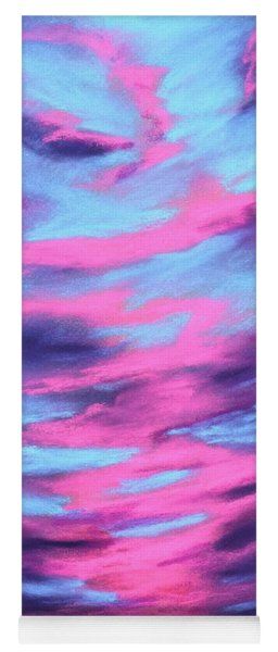 Yoga Mat featuring the painting Eccentric Sky by Anastasiya Malakhova