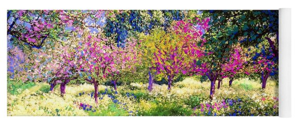 Echoes From Heaven, Spring Orchard Blossom And Pheasant Yoga Mat