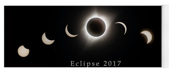 Yoga Mat featuring the photograph Solar Eclipse Collage 1 by Rikk Flohr